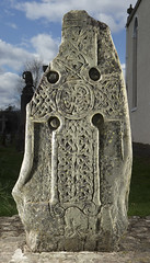 Pictish cross slab in Logierait churchyard, Perthshire 2014 (Historic Environment Scotland) Tags: dp190245 canmore scotland survey cross crossslab rcahms archaeology carvedstone carving hes historicenvironmentscotland pictish pictishstone logierait perthshire 2014