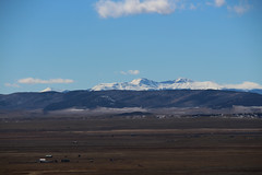 The Sawatch Range Rising over the High Valley Plains (Phil Spell) Tags: canon colorado mountains trees plants usa unitedstates rockymountains northamerica rocks rockformations snow forest clouds sky buildings grass landscape mountainside mountainpeak ridge mountainridge sawatchrange plains