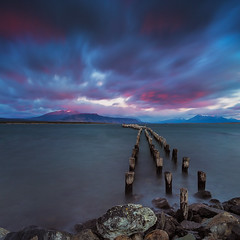 Puerto Natales winds (beaugraph) Tags: puertonatales patagonia pier chile southamerica mountains storm longexposure landscape