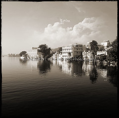 Dreaming For a Living (designldg) Tags: india rajasthan udaipur scenic serine picholalake lake cityoflakes blackwhite bn bnw landscape landscapephotography travel laurentgoldstein sepia reflection daydream dream composition contrast clouds sky view timeless monochrome outdoor city peace shanti water heritage atmosphere architecture pichola asia culture dharma indiasong mystery photography soul square imagination quietness blackandwhite cityscape