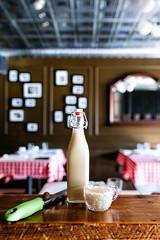 Aged Egg Nog (Spencer Pernikoff) Tags: egg nog christmas drink cocktail bar mixology stlouis italian restaurant nikon d750 sigma 3514 35mm food