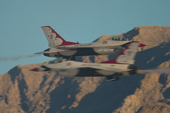 Thunderbirds (vsturgess) Tags: aircraft aviation airshow afb nellis las vegas usa usaf us thunderbirds lockheed martin f16c flying fighter fastjet fighting falcon canon 7d 100400mm mountains