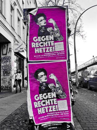 gegen rechte Hetze poster