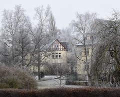 Psychiatric-clinic buildings in Hildburghausen (:Linda:) Tags: germany thuriniga town hildburghausen hoarfrost clinic halftimbered tree histroricism