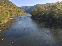 French Broad River in Hot Springs, NC