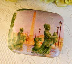 Limoges Porcelain Covered Trinket Box Fountains of Paris Artist Signed (Donna's Collectables) Tags: limoges porcelain covered trinket box fountains paris artist signed thanksgiving christmas
