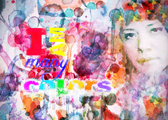 i am many colors (Hal Halli) Tags: poster groovy colorful sharingart paint
