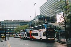 UK - Manchester bus (onewayticket) Tags: bus transport urban street stagecoach adl adlenviro400mmc adlenviro sl64jbx film zenit zenit12xp sirius sirius2828 canoscan9000f