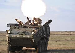 Stryker M1129 Mortar Carrier (hans_bergman729) Tags: usareur vilseck grafenwoehrtrainingarea germany rosebarracks grafenwoehr 2dcavalryregiment 2cr 2ndsquadron 2ndsqdn cougars tfcougar operationatlanticresolve oar multinational interoperability romania mihailkogalniceanu soldiers troopers dragoons usarmy europe jmrc training nato gta exercise smardantrainingarea platoon platoonlivefire troopmovement stryker coverfire