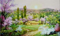 Le matin du 15 avril 1912 - Han Chol (nokoredstar) Tags: aquarelle peinture coréedunord pyongyang paysage broderie