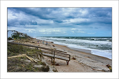 Looking for our home (prendergasttony) Tags: elements beach sand sea weather cloud blue sky home people usa america florida states pier waves outdoors nature storm seascape