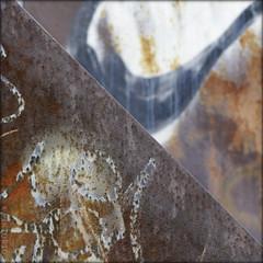 diagonal steel (piktorio) Tags: berlin germany steel street sculpture graffiti scribbles rust corrosion detail diagonal fragments dof piktorio material textures
