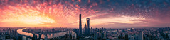 Long time no see, my Shanghai! (L-E-N-G) Tags: shanghai china city color scene sun sky travel tower impressed sunrise gettyimages humanities dji inspire1