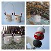 Christmas Tea Light Holders (Jude Allman) Tags: christmas stoneware pottery pots pot jude allman