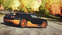 Counting Leaves (edit) (polyneutron) Tags: car photography bugatti veyron ss supersport orange carbon forza motorsport fm4 forza4 xbox360 photomode photoshop maplevalley bright