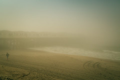 Into the fog (peaflockster) Tags: california sandiego waterfront fog atmospheric beach pier