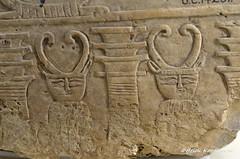 Hathor and Djed pillar (konde) Tags: 6thdynasty oldkingdom pepiii koptos limestone hathor goddess djed pillar ancientegypt petriemuseum london