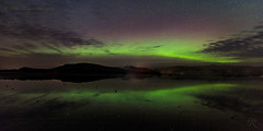 Finally I get to photograph the lights! (Pete 5D...©...) Tags: reflection wet sand northern lights iceland south water green bow arch purple hue star stars sky night dark clear aurora borealis auroraborealis
