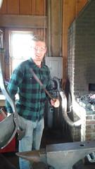 Poker, I hardly know her! (Ken_Mayer) Tags: uploadedwithflync blacksmith forge kinderfarm maryland anvil hammer poker