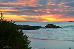 Sky (lpcobian) Tags: galicia areas pontevedra spain espaa sky sunset skyline nature evening puestasol sol sun beach playa ocean atlantic oceano atlantico turismo tourism travel daytrip