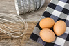 Eggs are a good source of essential nutrient Choline (Norco Ranch Egg Reviews) Tags: background bakery baking board bowl brown cake closeup cloth cooking counter egg food grunge healthy ingredient ingredients kitchen mixer napkin natural nature organic plank prepare raw rustic table tablecloth texture whisk white wood wooden