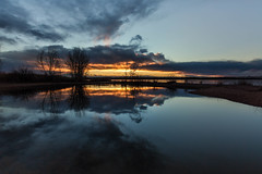 Morning Light (mclcbooks) Tags: sunrise dawn daybreak sky morning landscape seascape clouds reflections lakechatfield chatfieldlakestatepark colorado autumn fall