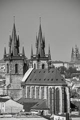 black&white roofs (lichtauf35) Tags: monocrome blackwhite prague church roofs czechrepublic oldtown prag praha