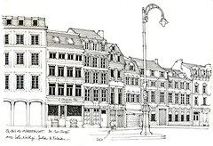 Sketchcrawl Liège (gerard michel) Tags: belgium liège sketchcrawl rue