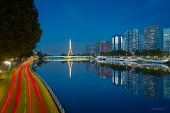 Miroir de Paris (photo.amateur78) Tags: paris îledefrance france fr bluehour heurebleue poselongue longexposure mirror mirroir reflet reflection eiffeltower toureiffel
