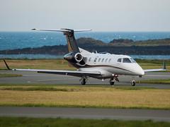 Private Embraer 505 M-BEAR (Joshua_Risker) Tags: new brazil man black private gold aircraft centre jet business delivery register 300 brand isle manx 505 phenom embraer bizjet ronaldsway mbear egns