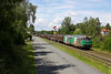06/2014 - Volvic (FR-63) - SNCF BB 67597 + BB 67530 + Rame marchandises (wagons couverts) - FRET 426510 (Laqueuille - Clermont)