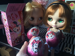 Division chocolat Minnie eggs... One for Amália, other to Eunice and other for me of course:)
