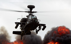 Apache's Inferno (Bernie Condon) Tags: army apache military attack helicopter boeing britisharmy westland aac riat westl wah64 riat14