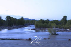 Gros Ventre River at dusk (Seventh day photography.ca) Tags: water river landscape spring dusk wyoming 2014 grandtetonnationalpark grosventreriver