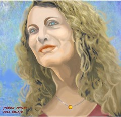 Portrait of gila, created by Photoshop, august 2013-