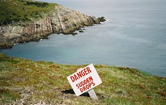 (E.VS) Tags: cliff film danger newfoundland johns