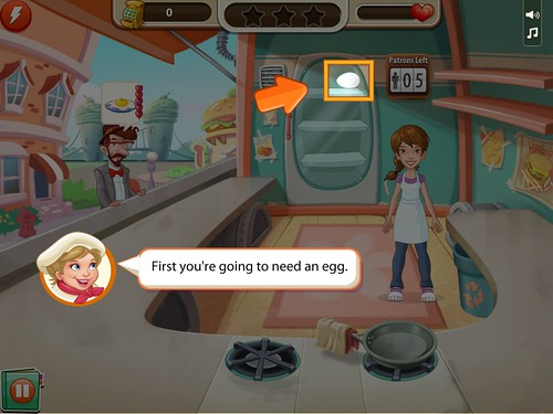 Kitchen Scramble Tutorial: screenshots, UI
