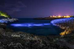 Porto Colom (Tom Draxler) Tags: sea vacation water night stars lights spain long exposure sony tourist porto fullframe mallorca ff balearen colom