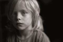 Today (Dalla*) Tags: boy portrait white black lensbaby hair kid long child five today wwwdallais edge80
