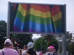 "Rainbow flag on show Plymouth Big Screen • <a style=""font-size:0.8em;"" href=""http://www.flickr.com/photos/66700933@N06/14690030427/"" target=""_blank"">View on Flickr</a>"