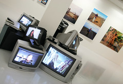 Modern art museum! (roomman) Tags: city woman man art film girl television set museum modern movie naked island design iceland tv artist village modernart background room arts picture style supermarket exhibition collection artists installation visual akureyri peopel 2014 akuyeri