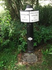 Weston Canal Milepost Trent and Mersey (Bridgemarker Tim) Tags: canals staffordshire weston mileposts