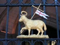 Gates to Middle Temple Hall (David Biggins) Tags: london camden flag halo holborn lamb law barrister templar innsofcourt crossofstgeorge