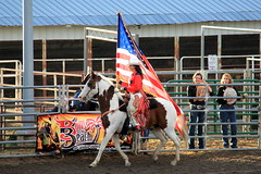 Parading the Flag (RPahre) Tags: rodeoqueen flag america mandilarson rooftoprodeo estespark rodeo colorado robertpahrephotography copyrighted donotusewithoutwrittenpermission donotusewithoutpermission
