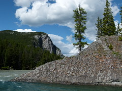 Water, Rocks and Mountains (Toats Master) Tags: mountains nature rockies scenic alberta banff bowriver banffnationalpark