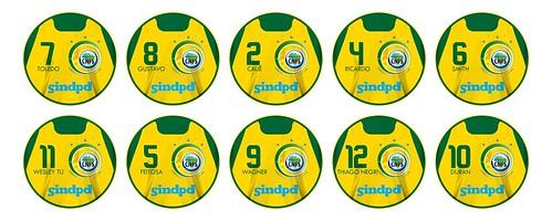Botões Seleção Brasileira de Futebol de Salão da CNFS - Medalha de Bronze no Jogos Mundiais 2013
