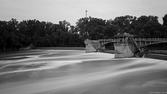 """The Hosey Dam"" (D A Baker) Tags: william j hosey dam maumee river fort wayne indiana allen county old long exposure public works project fortwayne danielbaker daniel baker dan da danielabaker landscape landscapes"