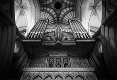 Wells Cathedral Organ Pipes (AdamJonMartin) Tags: blackandwhite cathedral wells somerset organ
