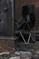 Folding Chair (pasa47) Tags: eaststlouis illinois unitedstates armourmeatpackingplant 2014 august stlouis eastside stl metroeast abandoned urbex urbanexploring decay exploration summer