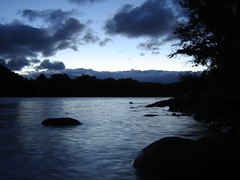Sunset in the Mountains (Diego Patagnico) Tags: sunset lake mountains rio azul river de lago atardecer los long exposure andes cordillera montaas neuquen